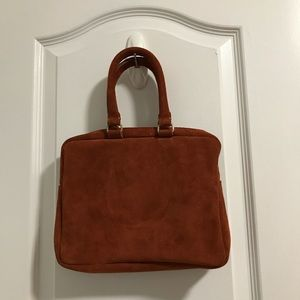 Khoi Le Anna Gray Suede Rust Colored Mini Suitcase